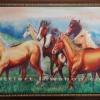 ภาพม้าป่า สีอะคริลิค  Mustang Acrylic