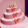 A37 การ์ดป๊อปอัพไดคัท Happy Birthday Cake