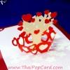 การ์ดป๊อปอัพ Tree & Heart ตกแต่งใหม่