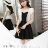 เสื้อคลุมกิ๊บเก๋ บางเบาแบบฉบับของผ้าชีฟอง สีดำและสีขาว ใส่ได้กับผ้าทุกสไตล์
