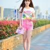 เสื้อยืดแฟชั่นคอกลม สกรีนลวดลายสุดชิค สีสัน colorful สุดๆ
