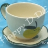 ของชำร่วย แก้วน้ำ พร้อมจานรองแก้ว เซรามิค GD-pm41