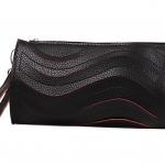 พร้อมส่ง ::MO140:: กระเป๋าสตางค์แฟชั่น หนัง PU แบบน่ารัก มีสายสะพายข้าง ถอดได้ สีดำ