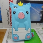 เคสไอโฟน 5/5s (Case Iphone 5/5s) เคสซิลิโคน หมูน้อย สีฟ้า