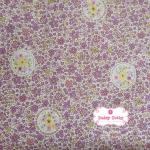 ผ้าคอตตอนไทย 100% 1/4 ม.(50x55ซม.) โทนสีม่วง