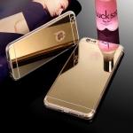 เคสไอโฟน 7 (TPU CASE) เคลือบฟิล์มกระจกสีทอง