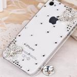 เคสไอโฟน 5/5s (Case Iphone 5/5s) ( เคสไอโฟนกรอบใส ประดับเพชร น่ารักสไตส์เกาหลี )