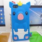 เคสไอโฟน 5/5s (Case Iphone 5/5s) เคสซิลิโคน หมูน้อย สีน้ำเงิน