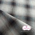 ผ้าทอญี่ปุ่น 1/4เมตร ลายตารางสีโทนสีกรมท่าและสีครีม