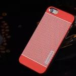 เคสไอโฟน 6 Plus เคสไอโฟน Hard Case Motomo กรอบอลูมิเนียมเกาหลีลายจุด สีแดง