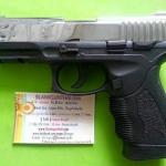 Retay PT24 Nickel Front Firing 9mm.PAK. Blank gun