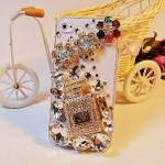 เคสไอโฟน 5C (Case iphone 5C) เคสไอโฟนกรอบโปร่งใส ประดับเพชรขวดน้ำหอมและคริสตัล