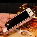 เคสไอโฟน 6 (ฺฺBumber case ) กรอบสีทองชมพูฝังเพชรไอโซ