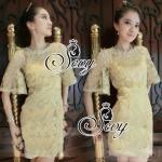 Sevy Luxury Golden Mini Dress
