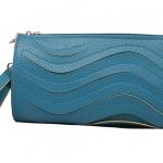 พร้อมส่ง ::MO140:: กระเป๋าสตางค์แฟชั่น หนัง PU แบบน่ารัก มีสายสะพายข้าง ถอดได้ สีฟ้า