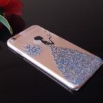 เคสไอโฟน 6 Plus เคสเจ้าหญิงประดับเพชรกระโปรงน้ำเงิน