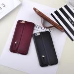 เคสไอโฟน 6P/6sPlus ( Silicone Case) พร้อมที่วางฝ่ามือ สีดำ