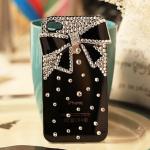 เคสไอโฟน 5C (Hard Case) เคสไอโฟนกรอบดำประดับโบว์ดำ
