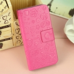 เคสไอโฟน 5/5s  (Case Iphone 5/5s)  กระเป๋าลายแม่มดน้อย สีชมพูเข้ม