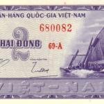 ธนบัตรเวียดนามใต้ รหัส P12 ชนิด 2 ดอง สภาพ UNC ไม่เคยผ่านการใช้งาน ปี 1955