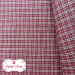 ผ้าทอญี่ปุ่น 1/4เมตร ลายตารางสีแดง