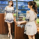 Lady Elena Sweet Vintage Embroidered Cotton Dress