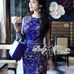 Lady Kate Desirable Sexy Lace Dress in Electric Blue