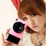 เคสไอโฟน4/4s (Case Iphone4/4s) Hard Case ( i camera case กล้องถ่ายรูป สีชมพูอ่อน )
