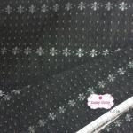 ผ้าทอญี่ปุ่น 1/4เมตร สีกรมท่าดำ ทอลายดอก