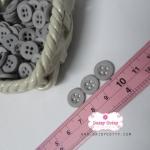 กระดุมพลาสติกสีเทา ขนาด 1.2 ซ.ม. จำนวน 12 เม็ด(1โหล)