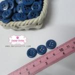 กระดุมพลาสติกสีน้ำเงิน ขนาด 1.5 ซ.ม. จำนวน 12 เม็ด(1โหล)