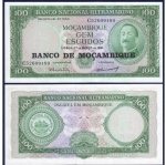 ธนบัตรประเทศโมซัมบิกP-117 ชนิดราคา100 Escudos (เอสคูโด)