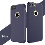 เคสไอโฟน 6Plus/6sPlus (Silicone Case) สีน้ำเงิน รุ่นป้องกันกล้อง+โชว์โลโก้แอปเปิ้ล