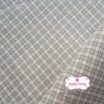 ผ้าทอญี่ปุ่น 1/4เมตร ลายตารางสีเทา