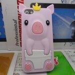 เคสไอโฟน 5/5s (Case Iphone 5/5s) เคสซิลิโคน หมูน้อย สีชมพูอ่อน