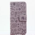 เคสไอโฟน 5/5s  (Case Iphone 5/5s)  กระเป๋าลายแม่มดน้อย สีม่วง