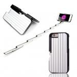 เคสไอโฟน7 (2 In 1 เคสไอโฟน+ไม้เซลฟี่ในตัว) (Hard Case Selfie Stick Protective Sleeve) สีดำ ฟรี Remote Bluetooh