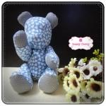 [Made to Order] ตุ๊กตาหมีผ้าคอตตอน ขนาด 6 นิ้ว