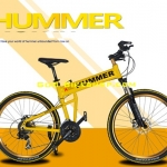 HUMMER-X ล้อซี่ลวด เฟรมอลูมิเนียม มี 3 สี ขาว,ดำ,เหลือง 21 speed