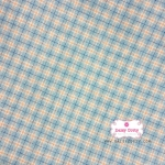 ผ้าทอญี่ปุ่น 1/4ม.(50x55ซม.) ทอลายตารางโทนสีฟ้า