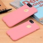 เคสไอโฟน 6Plus/6sPlus (Silicone Case) สีชมพู รุ่นป้องกันกล้อง+โชว์โลโก้แอปเปิ้ล