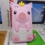 เคสไอโฟน 4/4s (Case Iphone 4/4s) เคสซิลิโคน หมูน้อย สีชมพูอ่อน