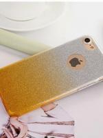 เคสไอโฟน 7 Plus (TPU Case) เคสกากเพชรสีเหลือง