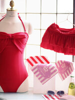 (Pre Order) Bikini ชุดว่ายน้ำ วันพีช+กระโปรง