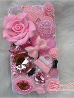 ***Sale ตำหนิเล็กน้อย***เคสไอโฟน 5/5s/SE (Case Iphone 5/5s) ( เคสไอโฟน Anna Sui ) สีชมพู