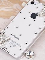 เคสไอโฟน 5c (Case Iphone 5c) ( เคสไอโฟนกรอบใส ประดับเพชร น่ารักสไตส์เกาหลี )