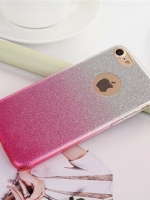 เคสไอโฟน 7 Plus (TPU Case) เคสกากเพชรสีชมพู