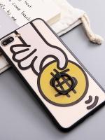 เคสไอโฟน 7 Plus (Silicone case and Hard case back) Give Money พร้อมห่วง