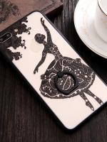 เคสไอโฟน 7 Plus (Silicone case and Hard case back) Black Ballet พร้อมห่วง