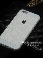 เคสไอโฟน 5/5s (TPU Case) กากเพชรสีขาว